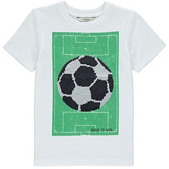 e1a6c732 T-skjorte med vendbare paljetter - Fotball - www.heltunik.no
