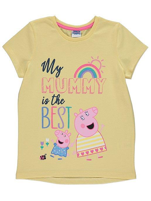 PEPPA GRIS t skjorte i rosa med trykk | Stort utvalg av Disney